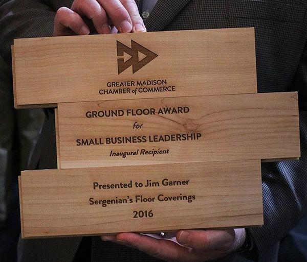 Chamber of Madison smalls business leadership award presented to Sergenian's in 2016