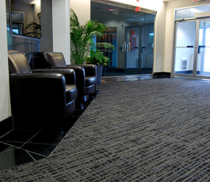 Sergenian's installed carpet and tile in a healthcare building